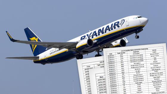 Ponad dwa tysiące lotów. Ryanair publikuje listę odwołanych rejsów, także z Polski