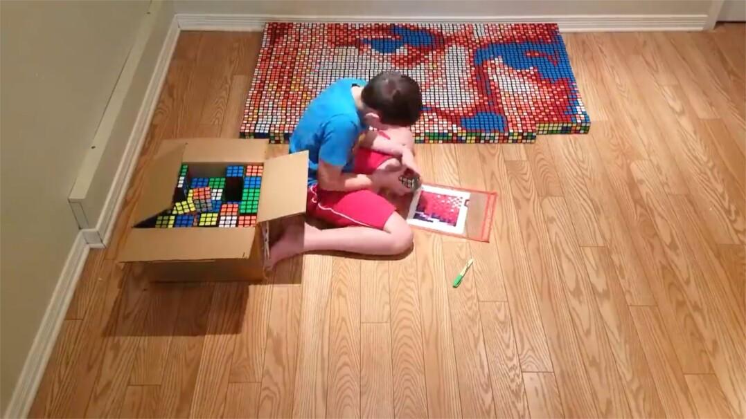 9-latek z dysleksją tworzy obrazy z kostek Rubika