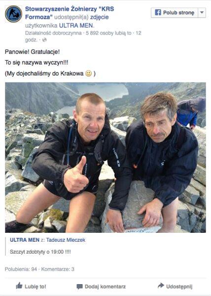 Komandosi pogratulowali na Facebooku wyczynu