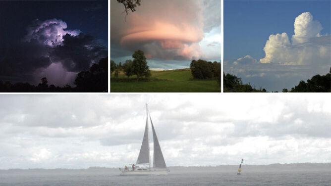 Te chmury zwiastują niebezpieczeństwo. <br />Na co powinni uważać żeglarze